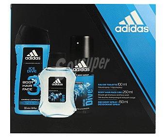 Adidas Estuche para hombre con colonia , desodorante 150 mililitros y champú y gel 3 en 1 250 mililitros 100 mililitros
