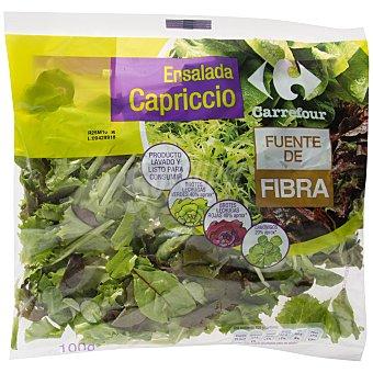 Carrefour Ensalada Capriccio (lechuga verde, lechuga roja y canónigos) Bolsa de 100 g