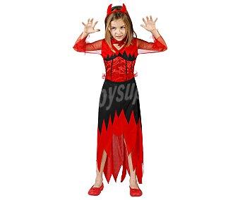 Atosa Disfraz infantil de demonio para niña. Talla: 10-12 años, atosa Demonia