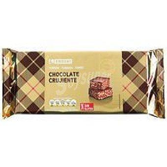 Eroski Turrón de chocolate crujiente Tableta 300 g
