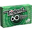 Chicle 60 minutos sabor hierbabuena  Paquete 20 g Trident