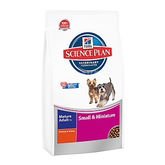 Hill's Science Plan Pienso para perros Mature & Adult+7 Hills Science Plan Small & Miniature pollo y pavo 3 Kg