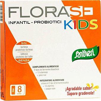 SANTIVERI FLORASE Infantil Kids defensas y energía especial niños 8 viales  envase 80 cc