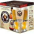 Cerveza rubia de trigo alemana + vaso Pack 5 botellines x 50 cl Franziskaner