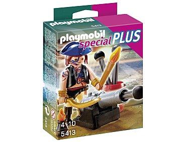 PLAYMOBIL Pirata más cañón Special Plus, modelo 5413 de 1 unidad