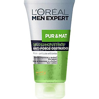 Men Expert L'Oréal Paris gel exfoliante Pur & Mat Tubo 150 ml