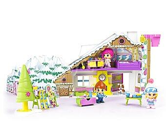 PIN Y PON La Casita en la Nieve con 3 Figuras y 1 Mascota 1 Unidad