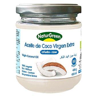 NATURGREEN Bio aceite de coco virgen ecologico sin gluten y sin lactosa envase 400 g