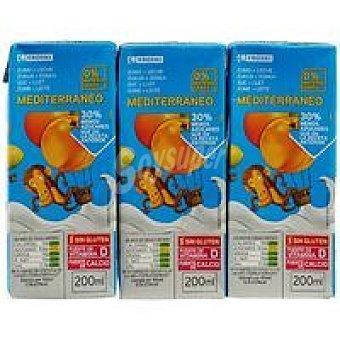 Eroski Lactozumo Mediterráneo Pack 3x200 ml