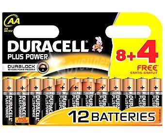 Duracell Pilas alcalinas Plus Power AA LR6 1,5V Pack de 12 unidades