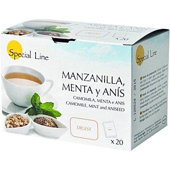 Special Line Infusión digestiva de manzanilla menta y anís Estuche 20 bolsitas