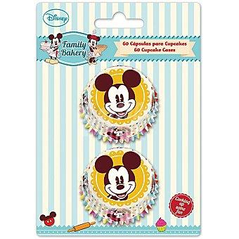 DISNEY Family Bakery Cápsulas de papel Mickey para cupcakes set 60 ud 60 ud