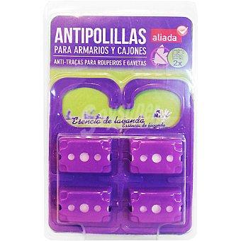 Aliada Antipolillas para armarios y cajones esencia de lavanda Envase 2 unidades