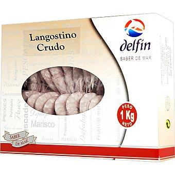 Delfín Langostino crudo 30-40 piezas Estuche 1000 g neto escurrido