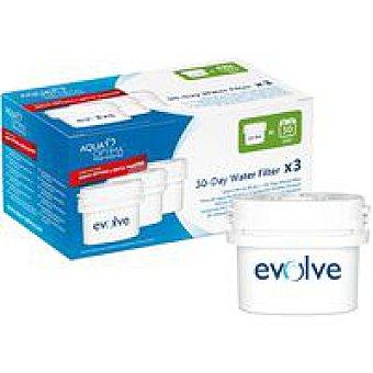 LUMINARC Filtro de agua Optima Pack 3 unid