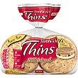 Pan 100% integral bajo en grasa rico en fibras grano completo bolsa 310 g 8 unidades (310 gramos) Sándwich Thins Bimbo