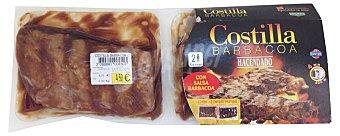 Hacendado Comida preparada costilla barbacoa Pack 2 x 350 g - 700 g