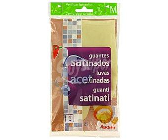 Auchan Guante Satinado Tamaño Medio 7-7 1/2 1 Par