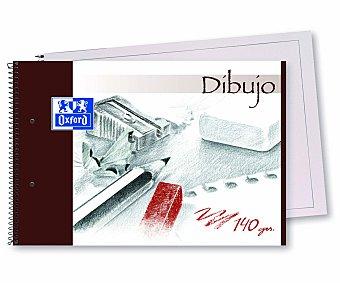 Oxford Bloc de dibujo con 30 hojas con recuadro de 140 gramos de tamaño DIN A4, microperforado con encuadernación con espiral metálica y 2 taladros grandes 1 unidad