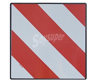 ROLMOVIL Placa para señalización de objetos de salientes del vehículo, fabricada en aluminio y con medidas de 50x50 centímetros 1 Unidad