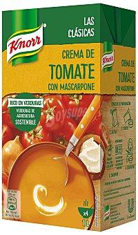 Knorr Crema de tomate con queso mascarpone Brik de 1 l
