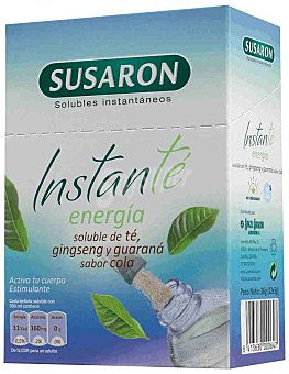 Susaron Instanté Energía Soluble de Té, Ginseng y Guaraná Sabor Cola Susarón 12 uds