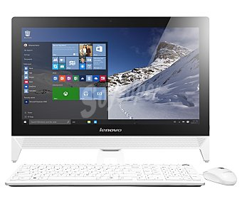 Lenovo Ordenador todo en uno con 19,5'' de pantalla, procesador: Intel N3150, Ram: 4GB, disco duro: 1TB, gráfica: Intel HD graphics 4400, wifi, webcam, Windows 10 C20-00