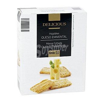 DIA Delicious Hojaldres queso emmental caja 70 gr Caja 70 gr