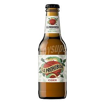 LA PROHIBIDA Sidra de manzanas rojas y verdes botella 25 cl Botella 25 cl