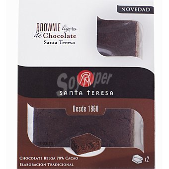 SANTA TERESA brownie ligero de chocolate pack 2 unidades 70 g