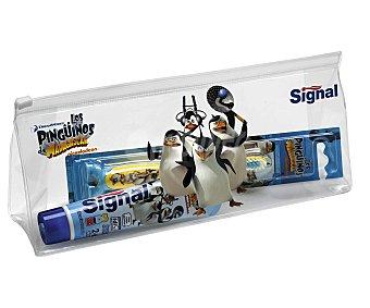 Signal Pack dental con cepillo y pasta de dientes (50 mililitros) de Los Pingüinos de Madagascar 1 unidad