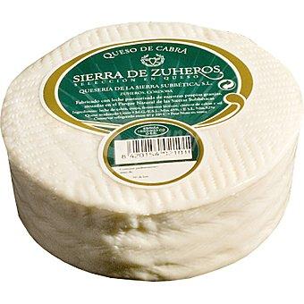 SIERRA DE ZUHEROS Queso de cabra semicurado natural  390 g (peso aproximado pieza)