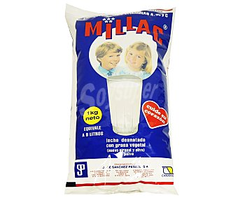 Millac Leche polvo desnatada Paquete 1 kg