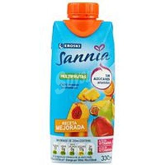 Eroski Sannia Multifrutas sin azúcar añadido Brik de 33 cl