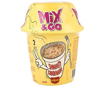 Brillante Spaghetti Carbonara Mix & Go Bote de 360 g