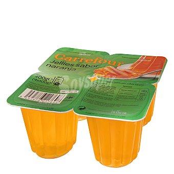 Carrefour Gelatina naranja Pack 4x100 g