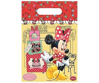Disney Bolsitas de plástico para fiestas con diseño Minnie 1 unidad