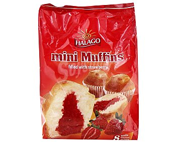 HALAGO Mini muffins rellenos de fresa 340 gramos