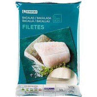 Eroski Filetes de bacalao Bolsa 500 g