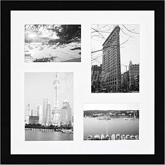 HERGON Marco Múltiple 4 ventanas de 40 x 40 cm en color negro 1 Unidad
