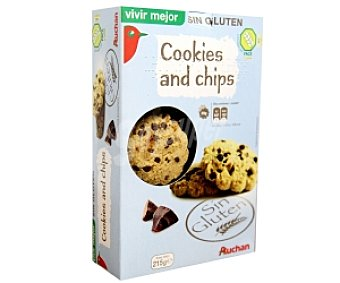 Auchan Cookies and Chips Sin Gluten 215 Gramos