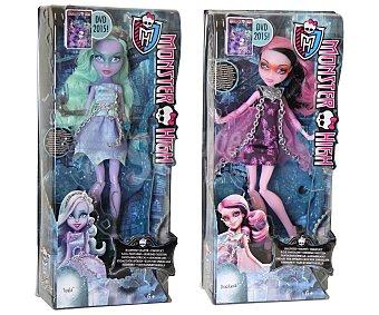 Monster High Muñecas Monster High Enfantasmadas, incluye 1 muñeca, 1 Dvd y accesorios con cadenas 1 unidad