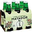 Sidra refrescante asturiana Pack 6 botellas 25 cl Mayador