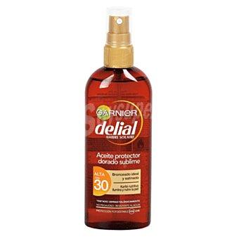 Delial Garnier Aceite protector Dorado Sublime FP-30 con karite nutritivo resistente al agua con karité nutritivo Spray 150 ml