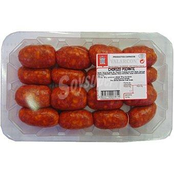 VALARCON Chorizo mini picante peso aproximado Bandeja 350 g