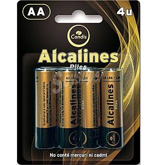 Condis Pilas LR06 alcalinas 4 UNI
