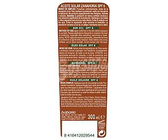 Babaria Aceite solar bronceador de zanahoria en spray, con con factor de protección 6 (bajo) 300 ml