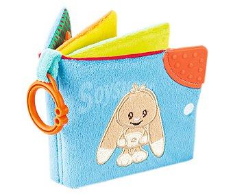 Baby Auchan Libro de Tela Suave con Conejito 1 Unidad