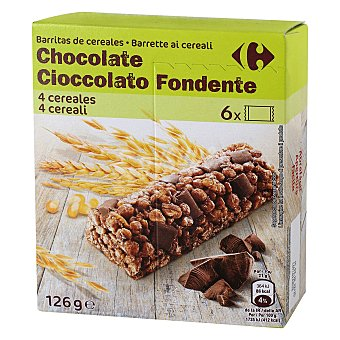 Carrefour Barritas de cereales con chocolate Carrefour 6 unidades de 21 g
