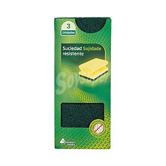 Bosque Verde Estropajo salvauñas Pack 3 u
